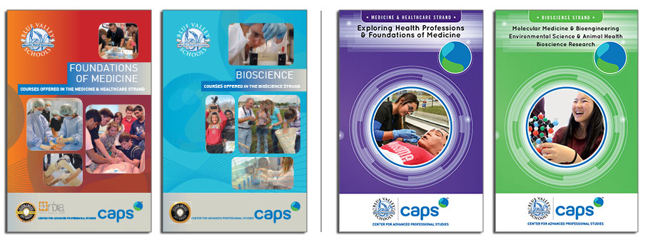 Foundations of Medicine/Bioscience Brochures, Before & After Redesign